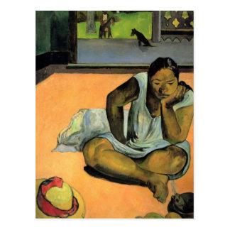 Pouting or Silence - Paul Gauguin Postcard