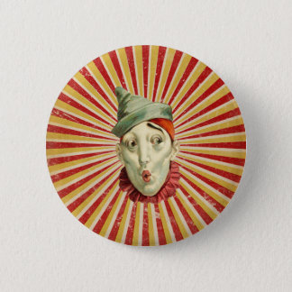 Pouting Vintage Circus Clown 6 Cm Round Badge