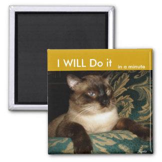 Pouty  Siamese Cat Fridge Magnet