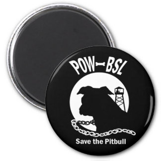 POW BSL Save the Pitbull Dog Emblem Magnet