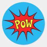 Pow! Classic Round Sticker