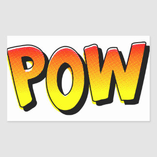 POW Comic Book Sound Effect Rectangular Sticker