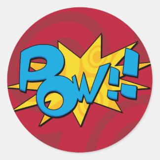 Pow Comic Book Sticker