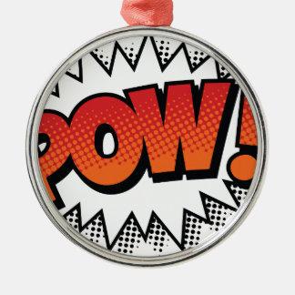 pow metal ornament
