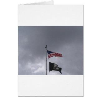 POW/MIA & American Flag Greeting Card