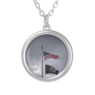 POW/MIA & American Flag Pendant