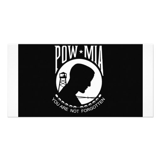 POW+MIA Flag Custom Photo Card