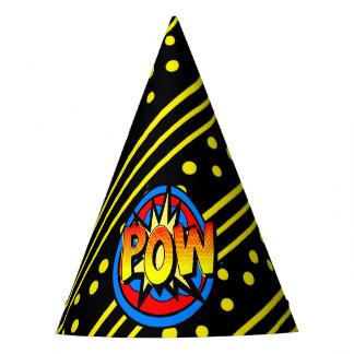 Pow Pop Art Cartoon Superpower Birthday Hat