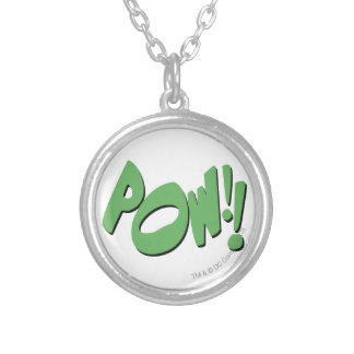 POW!! SILVER PLATED NECKLACE