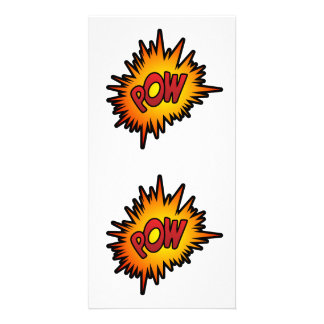 Pow Superhero Fight Customised Photo Card