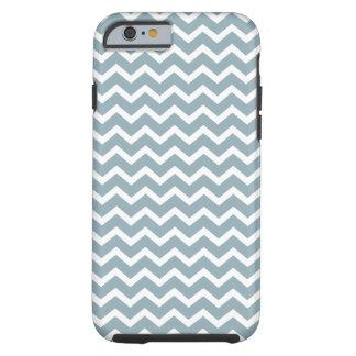 Powder Blue Chevrons Pattern Tough iPhone 6 Case
