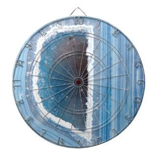 Powder Blue Geode Druzy Dartboard