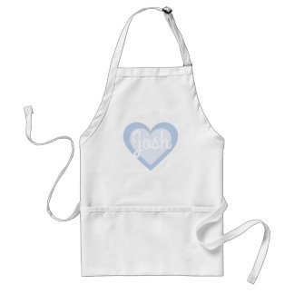 Powder Blue Heart with Customisable Name Standard Apron