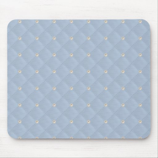 Powder Blue Pearl Stud Quilted Mousepads