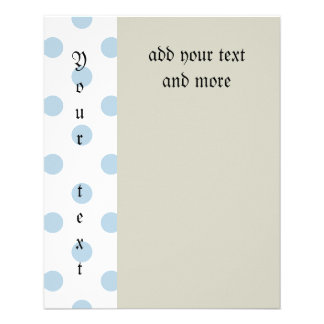powder blue ,polka dot,white,cute,girly,trendy,fun full color flyer
