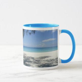 Powder Blue Ringer Beach Mug