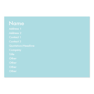 Powder Blue Solid Color Design (B0E0E6) Template Pack Of Chubby Business Cards
