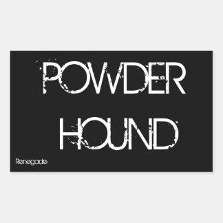 Powder Hound Rectangular Sticker