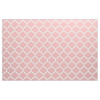 Powder Pink Moroccan Quatrefoil Trellis Fabric