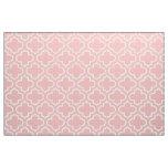 Powder Pink Moroccan Trellis Pattern Fabric 02