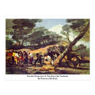 Powder Production In The Sierra De Tardienta Postcard