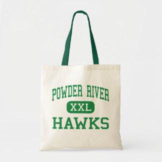 Powder River - Hawks - High - Broadus Montana Tote Bag
