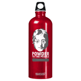 Powder To The People (snowboard) Water Bottle
