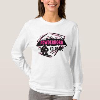 Powderhorn Colorado pink ski logo ladies hoodie
