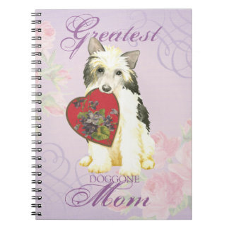 Powderpuff Heart Mom Notebooks