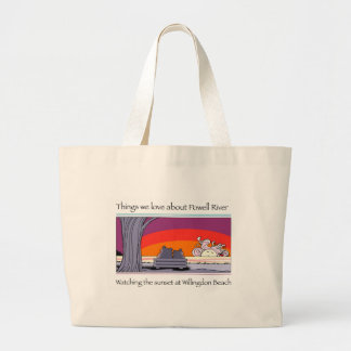 Powell river  copy large tote bag