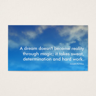 powell success quote business card