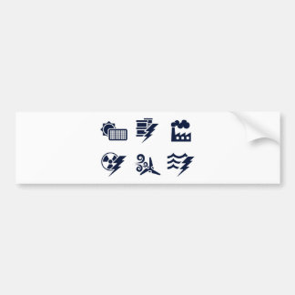 Power and Energy Icons Bumper Stickers