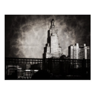 Power and Light Building, Kansas City, Grunge Postcard