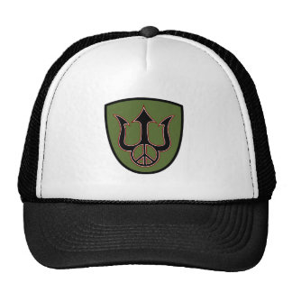Power and Peace - Trident - Peace Sign Hat. Cap