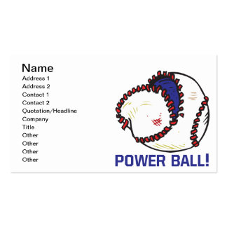 Power Ball Pack Of Standard Business Cards