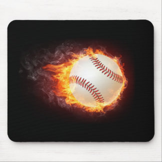 Power Baseball Mouse Pad