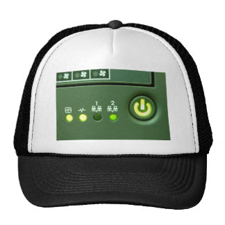 power button and indicator lights trucker hat