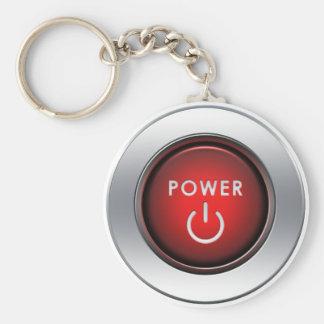Power Button Basic Round Button Key Ring