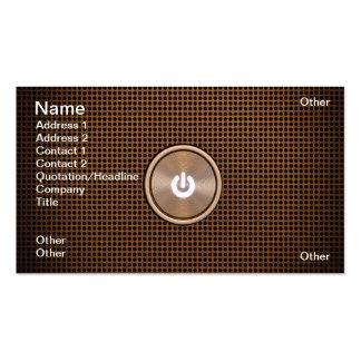 Power button business card template