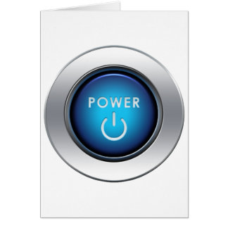 Power Button Greeting Card