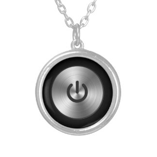 Power Button Geek ON OFF necklace