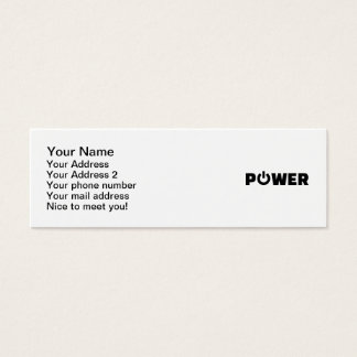 Power button mini business card