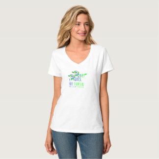 POWER by PLANTS. BECOME VEGAN. WHITE T-SHIRT. T-Shirt