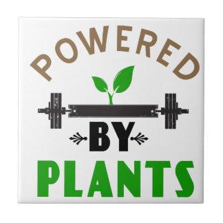 power by plants cute design ceramic tile