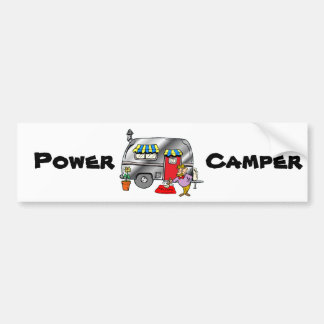 Power Camper Bumper Sticker