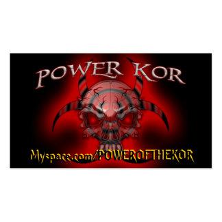 POWER CARDS - Customized - Customized Business Card