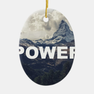 Power Ceramic Ornament