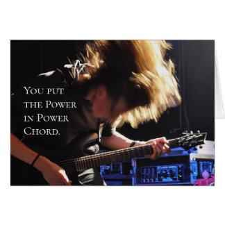 Power Chord Guitarist Birthday Card