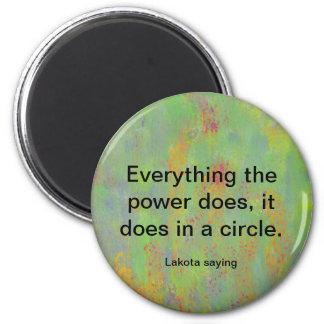 power circle lakota tribe 6 cm round magnet