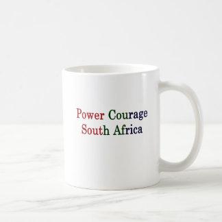 Power Courage South Africa Coffee Mug